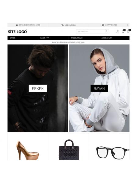 Opencart Moda Giyim Teması