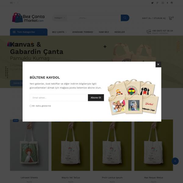 Bez Çanta Market Teması