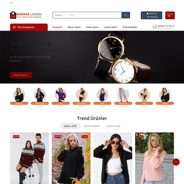 Opencart Giyim Teması