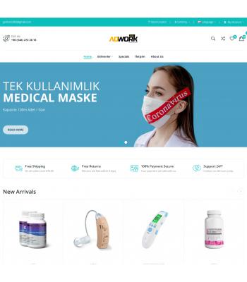 Opencart Medical - Sağlık Teması